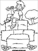 Coloriage Batiment Ferme.Coloriages Et Jeux De La Ferme