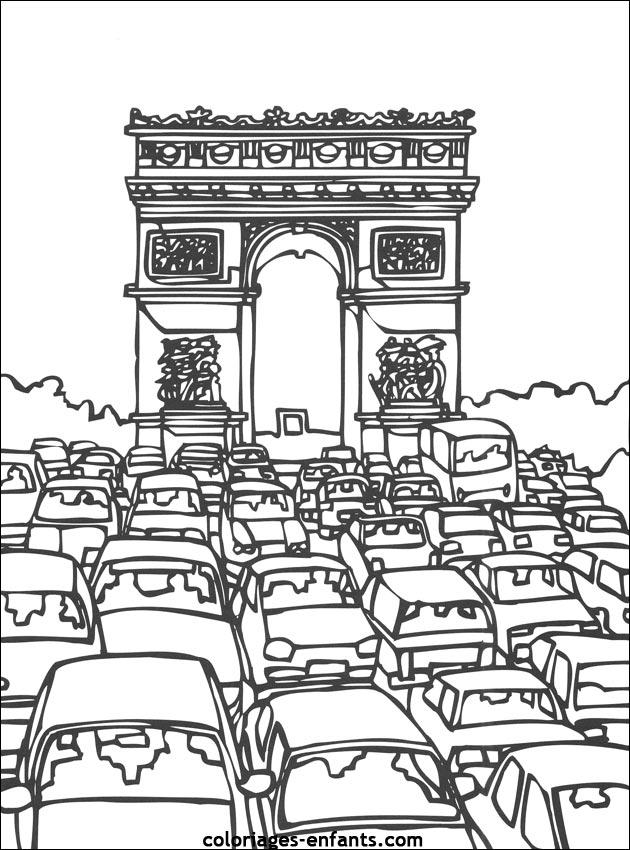coloriage ville de paris