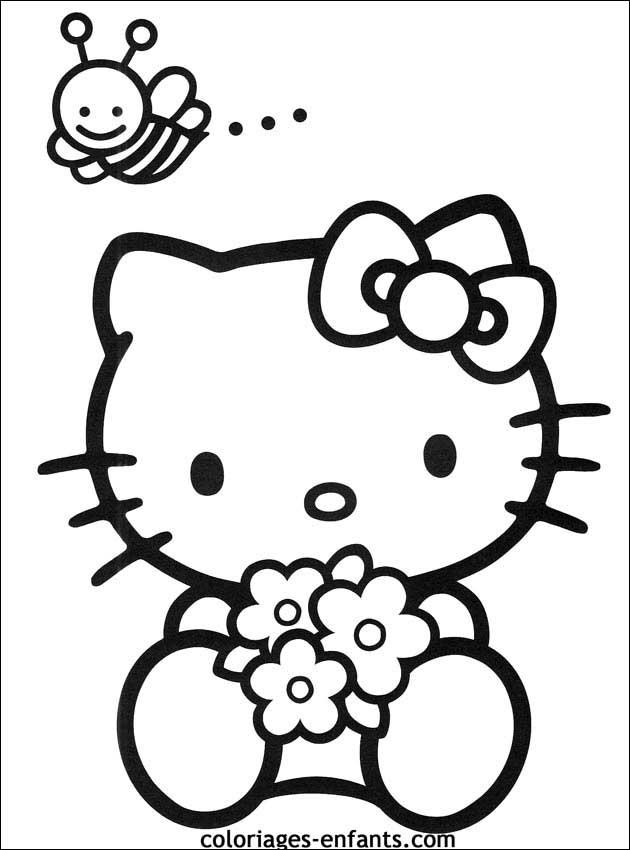 Les coloriages de fleurs sur imprimer sur coloriages - Coloriage hello kitty fleurs ...