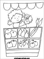 Coloriage Maternelle Fruits Et Legumes.Coloriages Et Jeux De Fruits Legumes