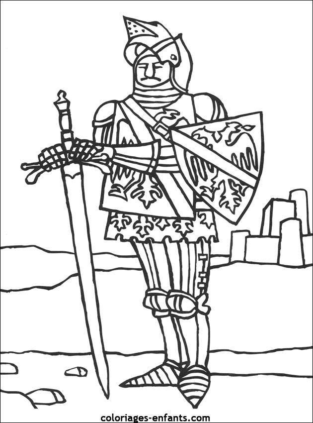 coloriage chevalier du zodiaque a colorier