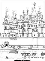 Coloriage Chateau De Chambord.Coloriages Et Jeux Des Rois De France