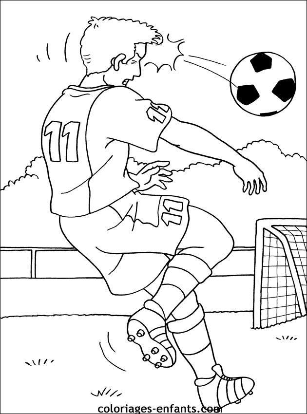 Les Coloriages De Football A Imprimer