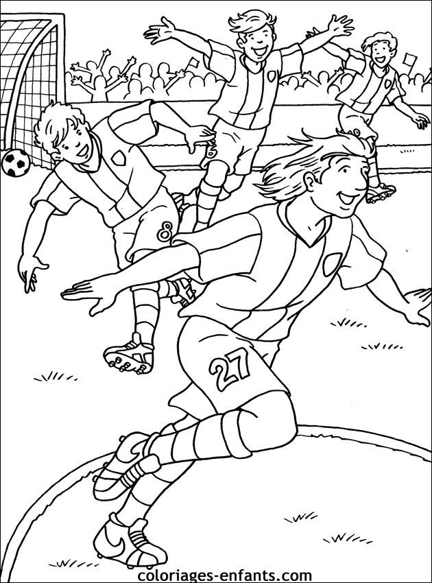 Les Coloriages D Football A Imprimer Sur Coloriages Enfants Com