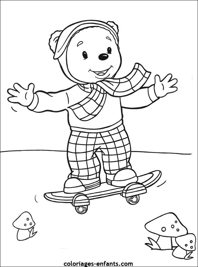 Les Coloriages de skate à imprimer sur Coloriages-enfants.com