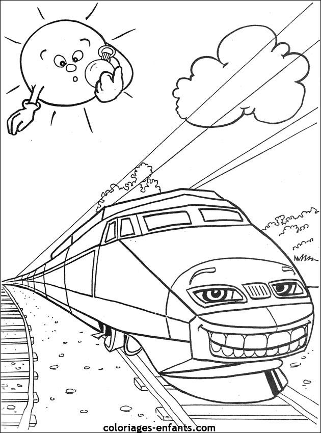 Les Coloriages De Trains A Imprimer Sur Coloriages Enfants Com